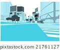 "Illustration material ""Shopping streets of Shibuya"" 21761127"