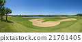 View golf course in the summer.  21761405