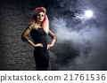 Young woman in a Halloween outfit 21761536