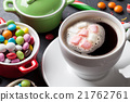 Colorful candies and coffee cup 21762761