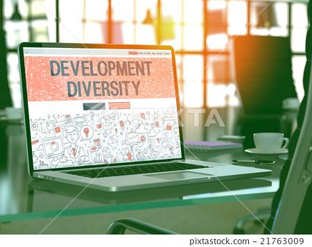 Development Diversity Concept on Laptop Screen. 21763009