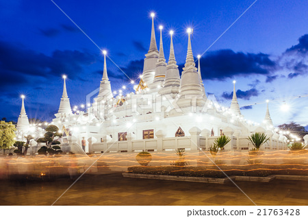 Asoke temple in blue hour moment 21763428