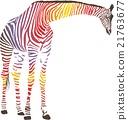 Abstract giraffe with zebra skin 21763677