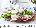 Ingredients for cooking cutlets with mashed  21764011