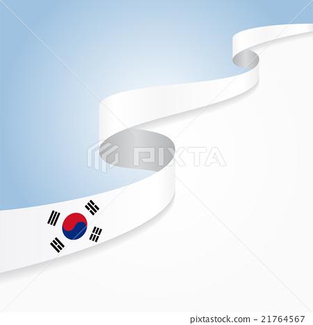 South Korean flag background. Vector illustration. 21764567