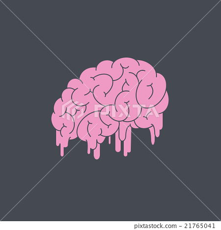 Vector melting brain  21765041