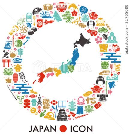 日本的圖標 21765089