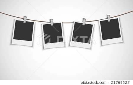 Frames hanging with clips 21765527