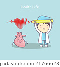 heart with doctor,health life 21766628
