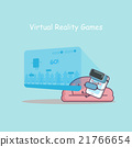 smartphone with virtual reality games 21766654