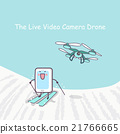 live video cameradrone with smartphone 21766665