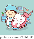 cartoon dentist with tooth 21766681