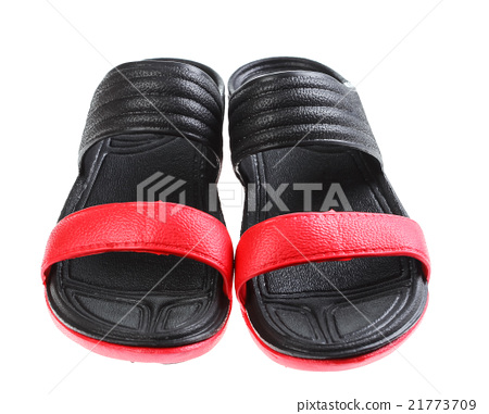 Woman sandals isolated on the white background 21773709