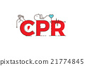 CPR word design illustration 21774845