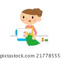 縫紉機 家庭主婦 女裝裁縫 21778555