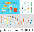 Dental office PC set dentists instruments 21781416