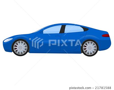 Blue sports sedan 21781588