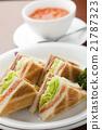 早餐 白面包 盘 21787323