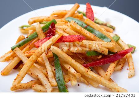 Fries of potato potatoes 21787403