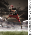 The american football player in action 21789204