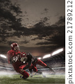 The american football players in action 21789212