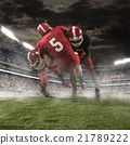The american football players in action 21789222