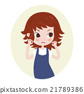 Girl pretending to be a lion. Cute horoscope 21789386