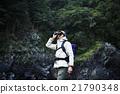 男性 自然 徒步旅行 21790348