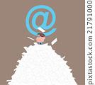 一名男子埋在邮件山中 21791000