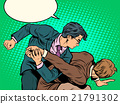 Men businessmen fighting 21791302