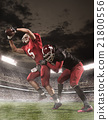 The american football players in action 21800556