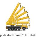 Mobile crane vector 21800844