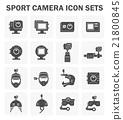Sport camera icons 21800845