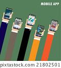 hand phone vector 21802501