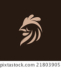 Abstract rooster logo template 21803905