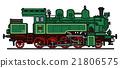 steam, locomotive, green 21806575