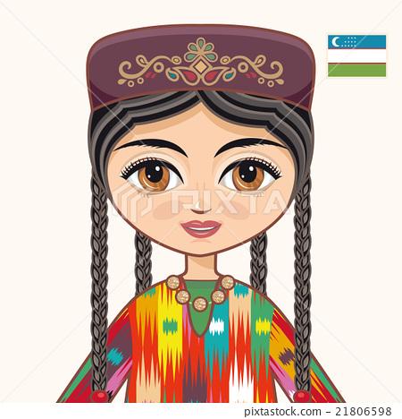 The girl in Uzbek dress. Portrait. Avatar. 21806598