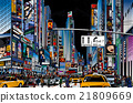 street in New York city 21809669