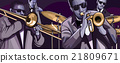 jazz band with trombonne trumpet double bass 21809671