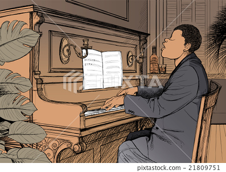 Ragtime pianist 21809751