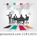 Business meeting with Modern infographic 21811633