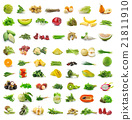 fruit and vegetable isolated on white background 21811910