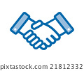 Business-style handshake icon 21812332