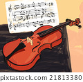 violin in watercolor style 21813380
