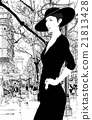 illustration of an elegant lady in Paris 21813428
