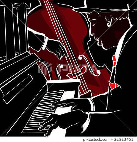 Vector illustration of a Jazz piano 21813453