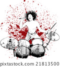 drummer on grunge background 21813500