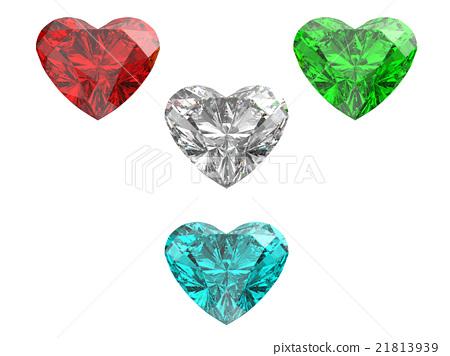 心形鑽石(背景透明) 21813939