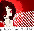 jazz singer on grunge background 21814343