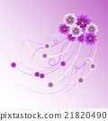 Floral vector background. 21820490
